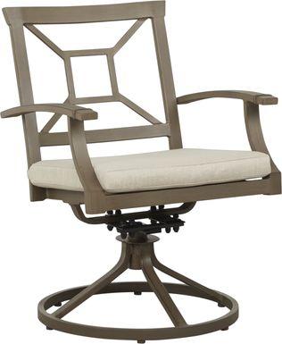Waterfront Bronze Outdoor Swivel Rocker Chair