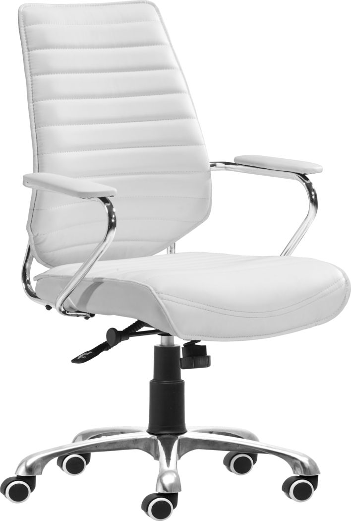 Watova Lane White Desk Chair