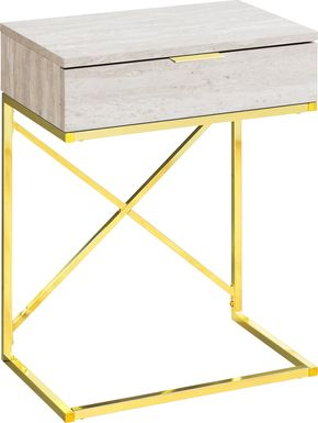 Wauford Beige Accent Table