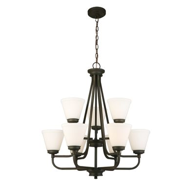 Wavecrest Bronze Chandelier