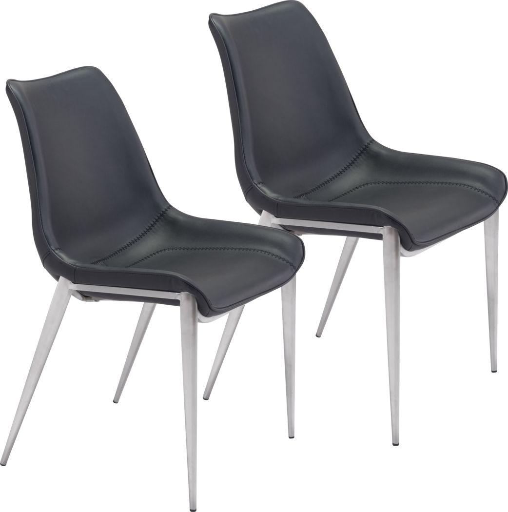 Wavell Black Walnut Side Chair, Set of 2