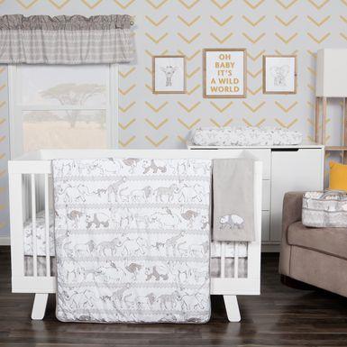 Waverly Congo Line Gray 5 Pc Baby Bedding Set