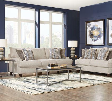 Waverly Park Beige 2 Pc Living Room