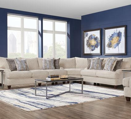 Waverly Park Beige 3 Pc Sectional