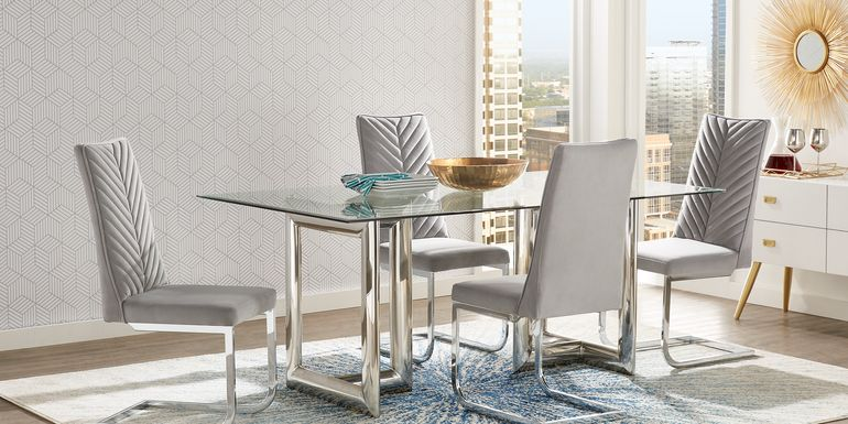 Waycroft Silver 5 Pc Dining Room with Gray Chairs
