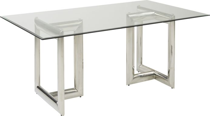 Waycroft Silver Rectangle Dining Table