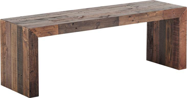 Wedgemere Brown Bench