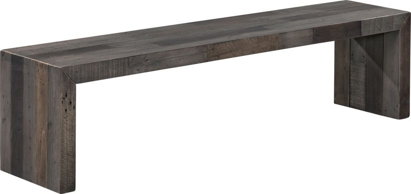 Wedgemere Large Gray Bench