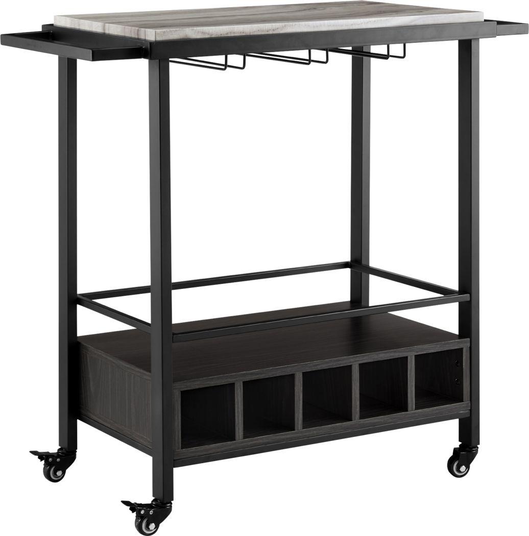 Wendfair Gray Bar Cart