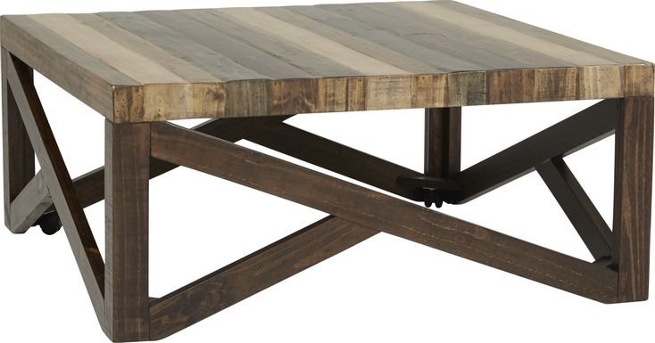 Cindy Crawford Home Westover Hills Brown Cocktail Table