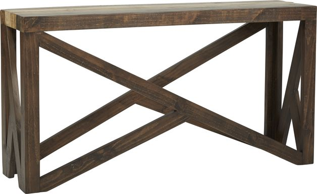 Cindy Crawford Home Westover Hills Brown Sofa Table