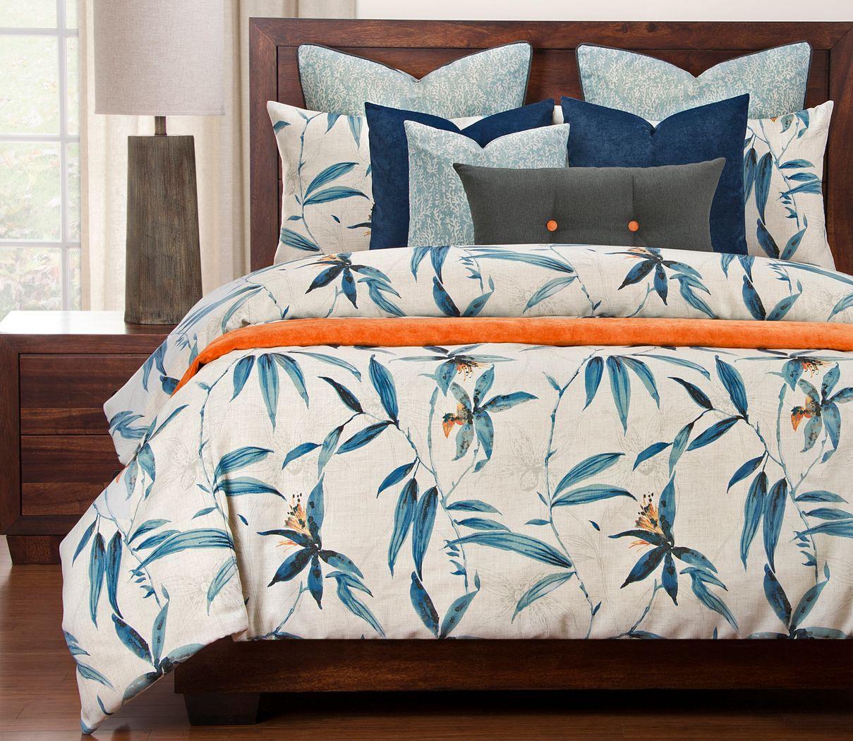 Westport Heights Blue 11 Pc Queen Duvet Set