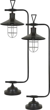 Wheeley Shore Bronze Lamp, Set of 2