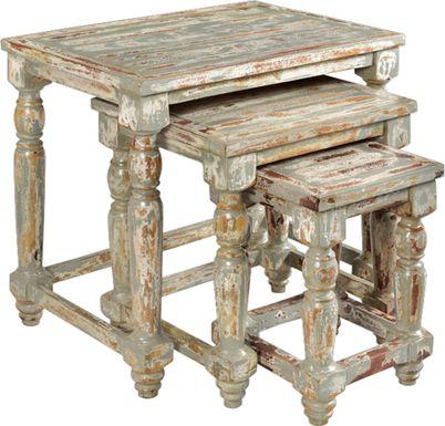 Whitefriar Gray Nesting Tables, Set of 3