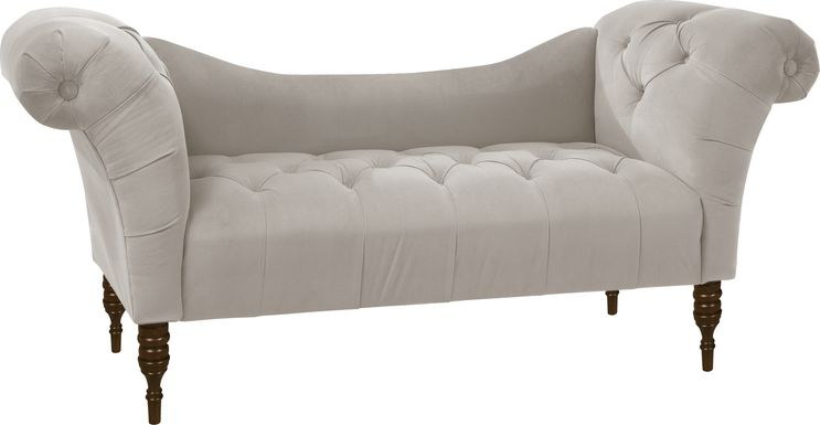Whitmere Light Gray Chaise Bench