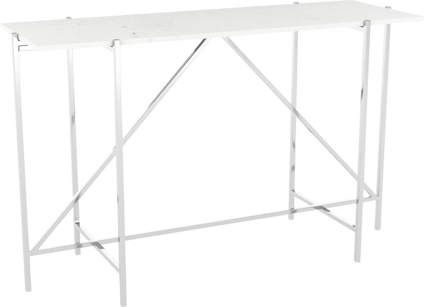 Whitsler White Sofa Table