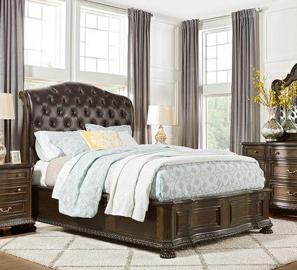 Whittington Cherry 7 Pc King Sleigh Bedroom