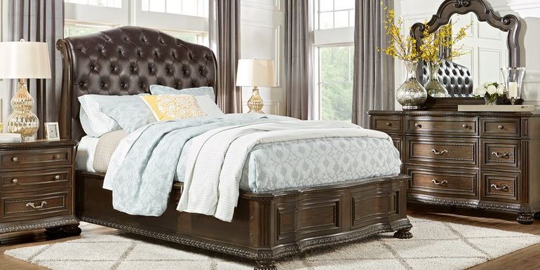 Whittington Cherry 7 Pc Queen Sleigh Bedroom