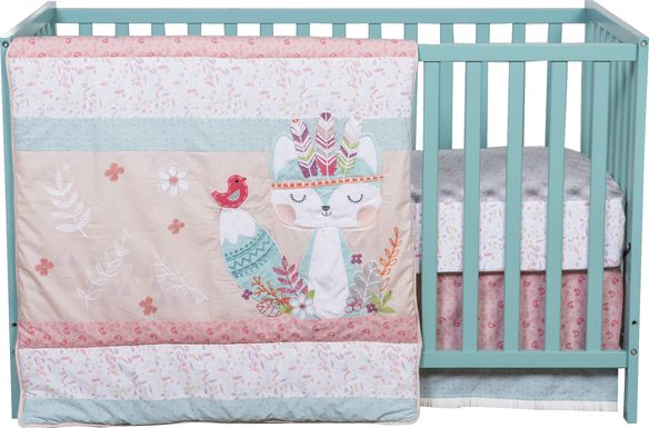 Wild Forever Pink 3 Pc Baby Bedding Set