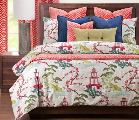 Wilden Landing  Red 12 Pc King Duvet Set
