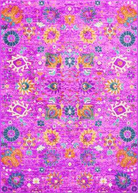 Kids Wildflower Pink 5'3 x 7'3 Rug
