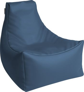 Kids Wilfy Blue Small Bean Bag Chair