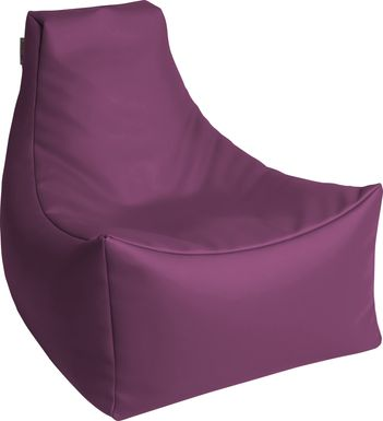 Kids Wilfy Purple Small Bean Bag Chair