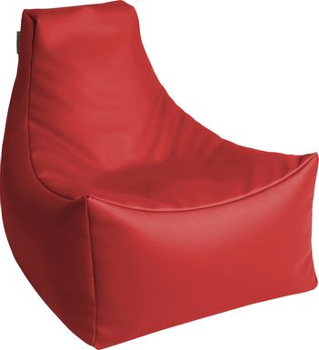 Kids Wilfy Red Small Bean Bag Chair
