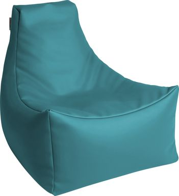 Kids Wilfy Turquoise Small Bean Bag Chair