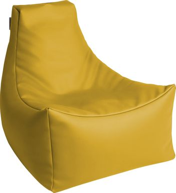 Kids Wilfy Yellow Small Bean Bag Chair