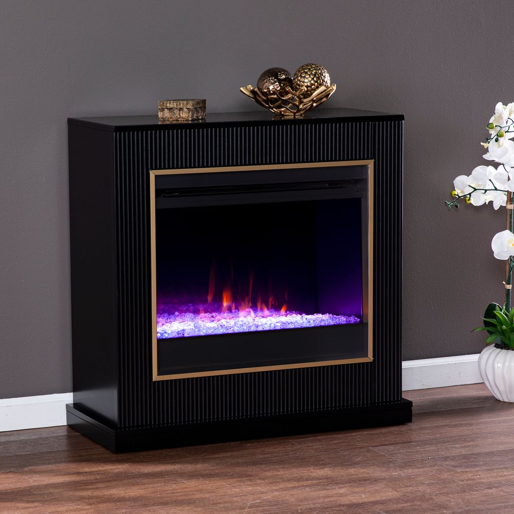 Black Fireplace TV Consoles