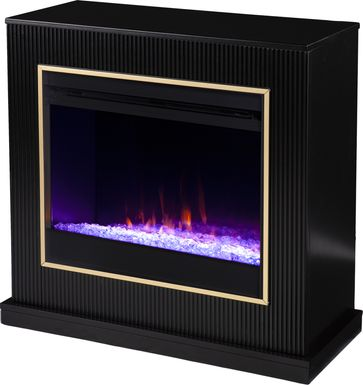 Willaurel I Black 33 in. Console, With Electric Fireplace