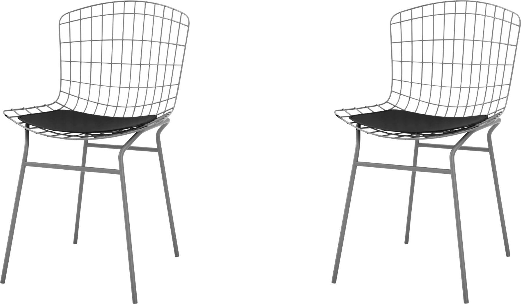Willowrun Black Side Chair, Set of 2