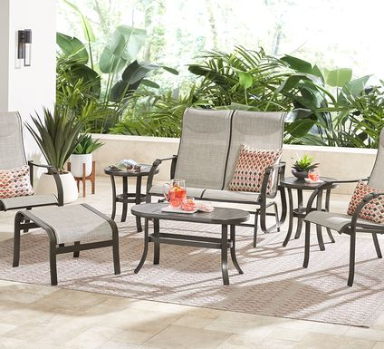 Windy Isle Bronze 4 Pc Outdoor Seating Set