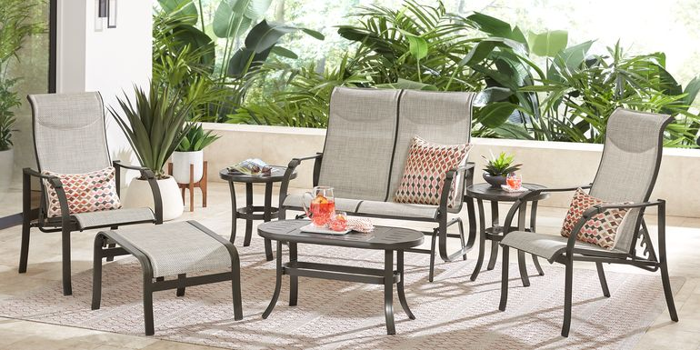 Windy Isle Bronze 4 Pc Outdoor Seating Set
