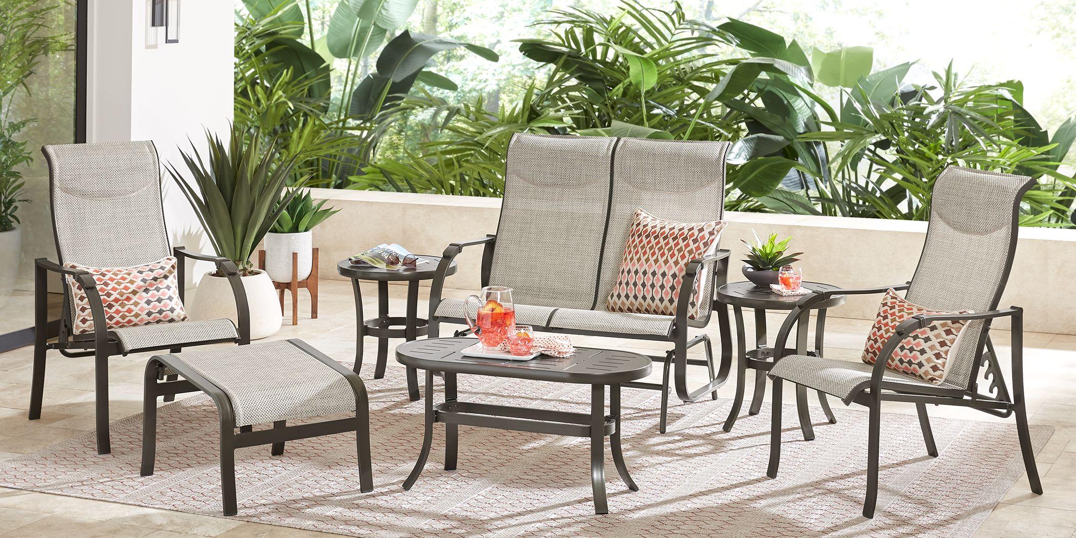 Windy Isle Bronze 5 Pc Outdoor Seating Set