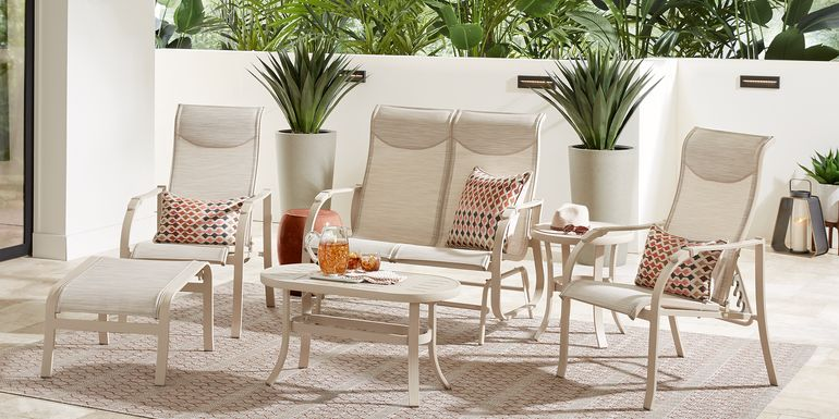 Windy Isle Sand 4 Pc Outdoor Seating Set