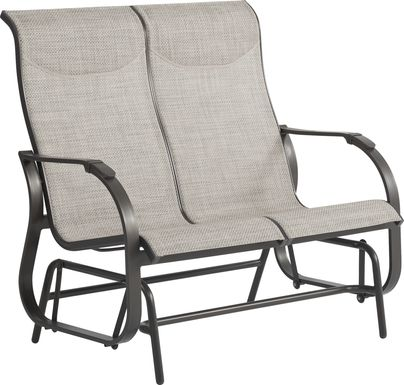 Windy Isle Bronze Outdoor Glider Loveseat