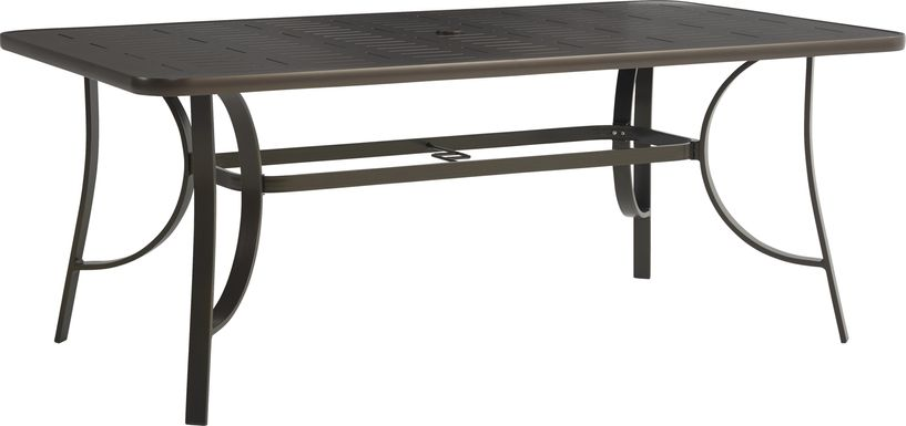 Windy Isle Bronze 72 in. Rectangle Outdoor Dining Table