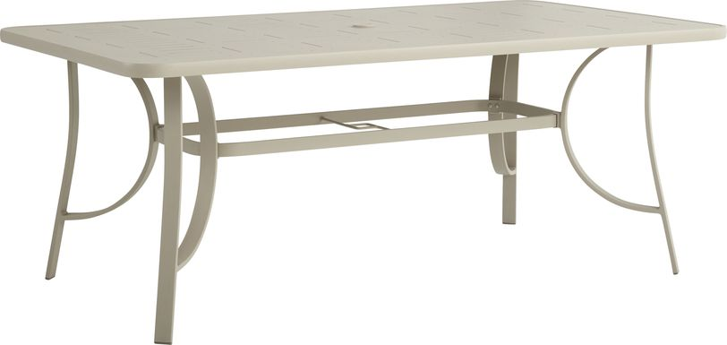 Windy Isle Sand 72 in. Rectangle Outdoor Dining Table