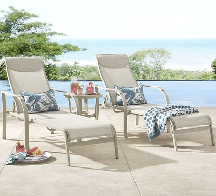 Windy Isle Sand Outdoor Chaises, Set of 2