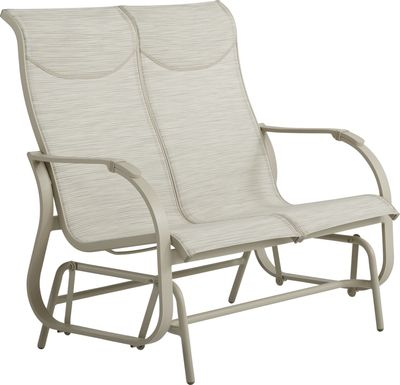 Windy Isle Sand Outdoor Glider Loveseat