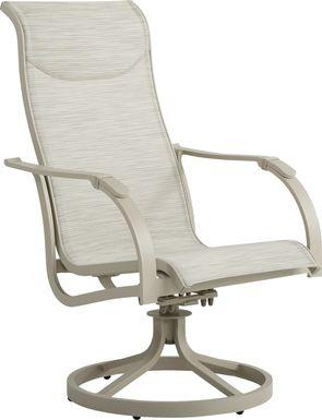 Windy Isle Sand Outdoor Swivel Rocker Chair