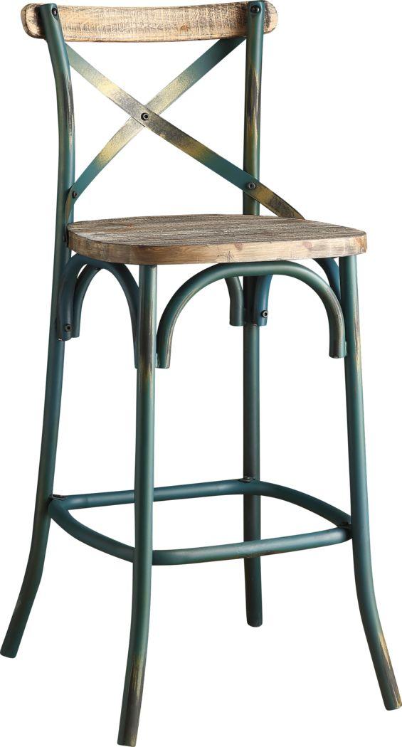 Winhall Turquoise Barstool