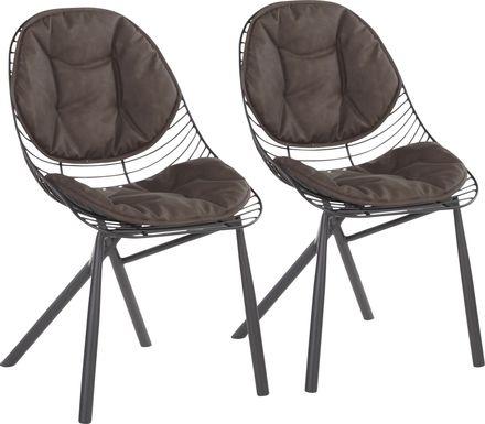 Winnifred Espresso Side Chair, Set of 2