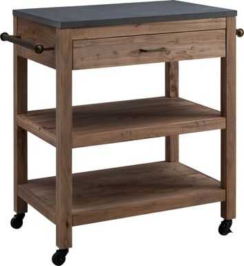 Winola Natural Kitchen Island