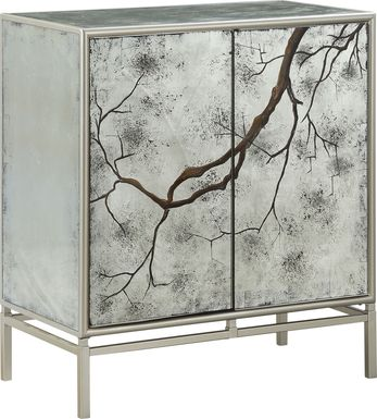 Winter Branch Silver Accent Cabinet