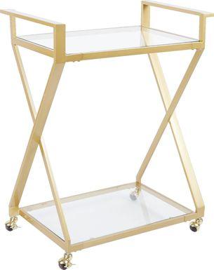 Winterfern Gold Bar Cart