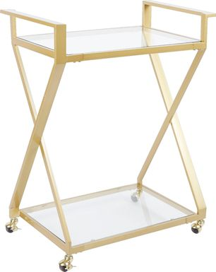 Winterfern Gold Bar Cart