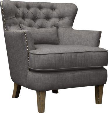 Wintley Dark Gray Accent Chair